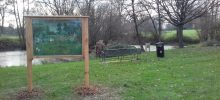 New display board at Stangrove Pond