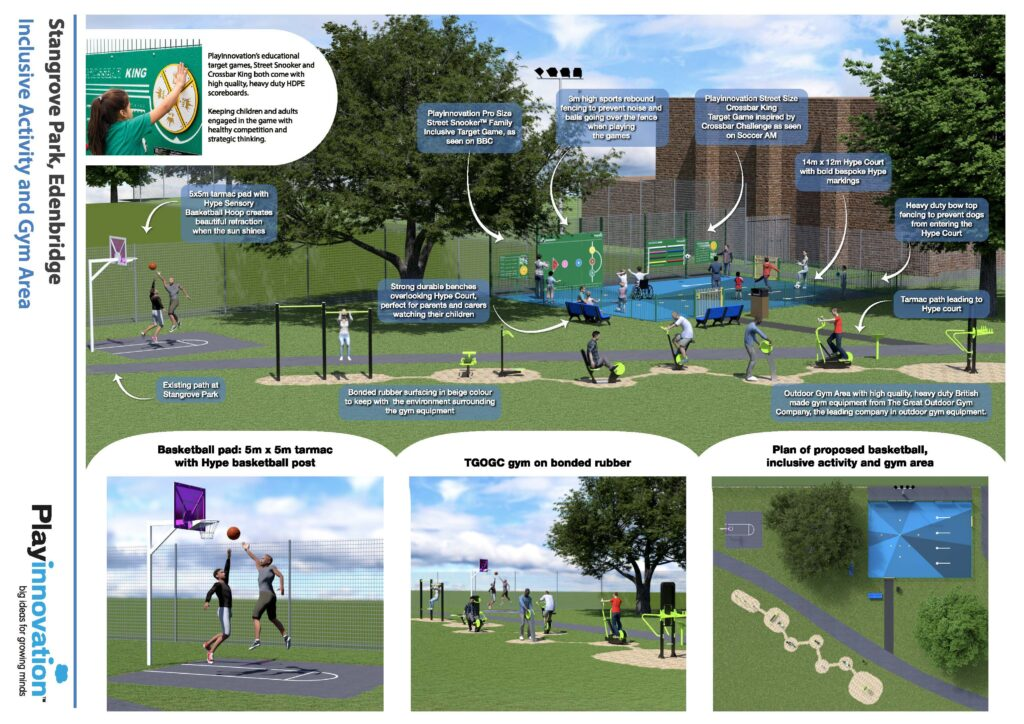 Stangrove Park inclusive activity and gym area
